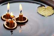 breathing candles floating retreat